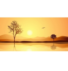 Landscape with Reflection vector image vector image