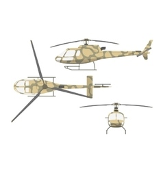 Military helicopter in flat style vector image