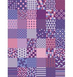 ultra violet seamless pattern set vector image vector image