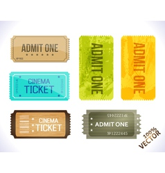 Admit one Different Stickers vector image