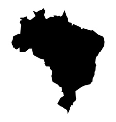 Black silhouette map of Brasil vector image vector image