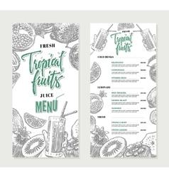 Fresh Restaurant Menu Template vector image vector image