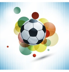 Soccer design background vector image