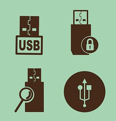 usb device vector image