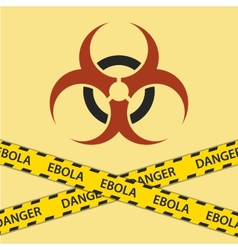 Warning ebola biohazard sign vector image