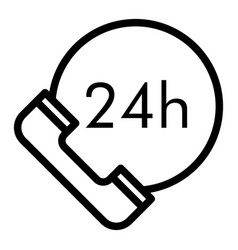 24 hours service line icon 24 hours delivery vector