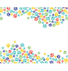 abstrac animal paw footprint pattern icon vector image