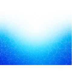 abstract geometric blue network background vector image