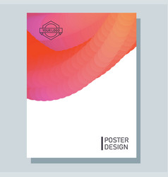 abstract poster with blend vector image