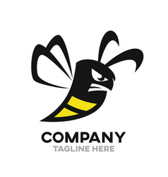 Angry bee logo vector