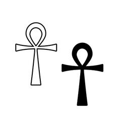 Ankh symbol egyptian cross isolated vector
