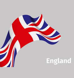 background with england wavy flag vector image