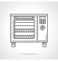 Bakery equipment flat line icon Stove vector image