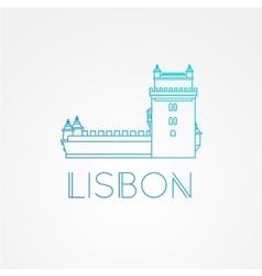 belem tower - symbol lisbon portugal vector image