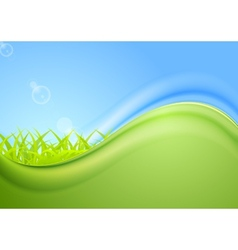 Bright summer wavy background vector