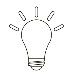 Bulb idea innovation creative outline vector