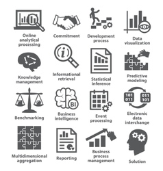 Business management icons Pack 04 vector