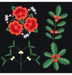 Celebration plant set vector