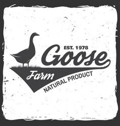 Chicken farm badge or label vector