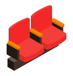 Cinema armchair 3D isometric icon vector image