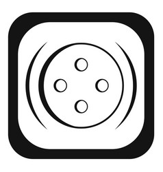 Clothing square button icon simple style vector