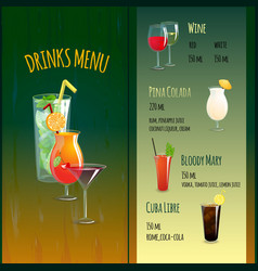 Cocktail Bar Menu vector image
