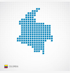 colombia map and flag icon vector image