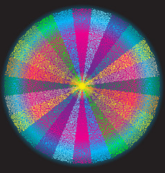 colorful round frame of small balls and colorful vector image