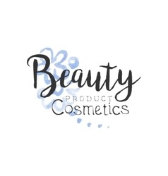 Cosmetics product beauty promo sign vector