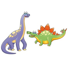 Couple of funny dinosaurs vector image