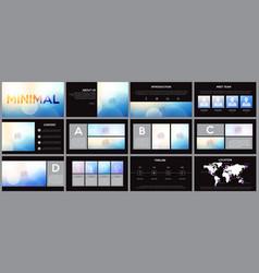 design element infographics for presentations vector image