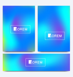 Design template in trendy vibrant gradient vector