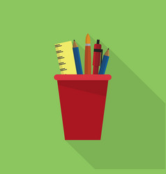 drawing tools icon set of great flat icons vector image