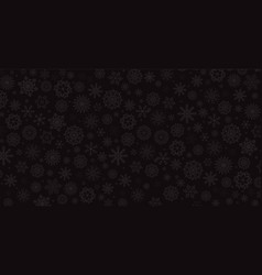 elegant winter black background with silver vector image
