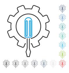 engineering contour icon vector image