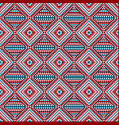 Ethnic rhombus tribal seamless pattern vector