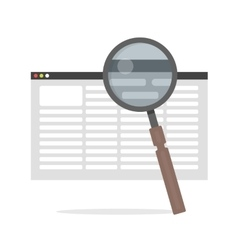 Flat icon - of document Search vector
