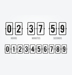 flip board countdown clock counter timer vector image