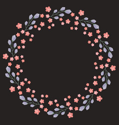 Flower frame for your design vector