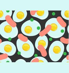 Fried eggs pattern vector