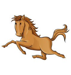 galloping cartoon horse vector image