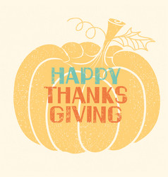 happy thanksgiving card with lettering decoration vector image