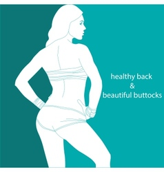 Healthy back and beautiful buttocks vector