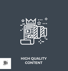 high quality content line icon vector image