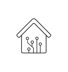 home automation hand drawn outline doodle icon vector image