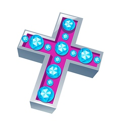 icon cross vector image
