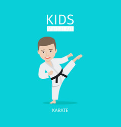 kids martial art karate vector image