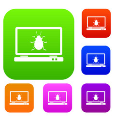 laptop set collection vector image