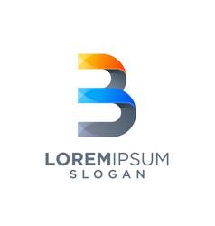 Letter b logo design vector