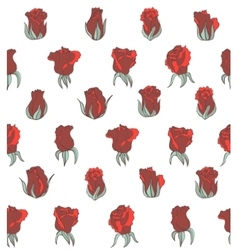 light seamless background with red roses vector image
